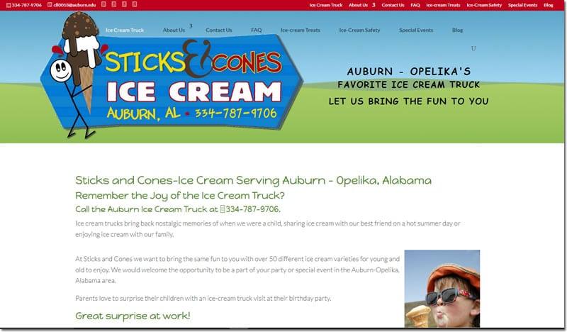 Sticks and Cones Ice-Cream
